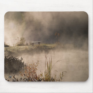 Bench Pond Steam Mouse Pad