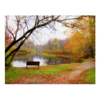 Bench Scene - Ashuelot River Park Postcard