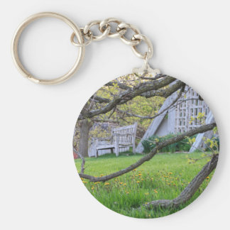 Bench Through The Trees Keychain