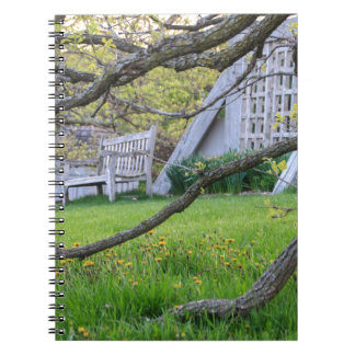 Bench Through The Trees Spiral Notebook