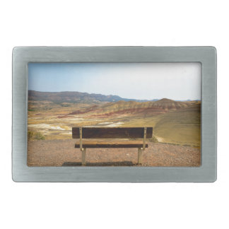 Bench View at Painted Hills Overlook Oregon Belt Buckle