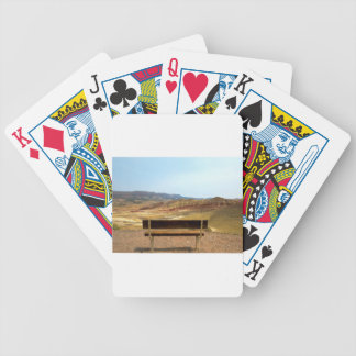 Bench View at Painted Hills Overlook Oregon Bicycle Playing Cards
