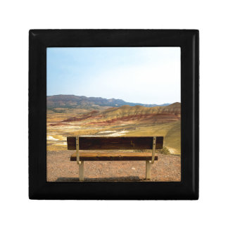 Bench View at Painted Hills Overlook Oregon Gift Box