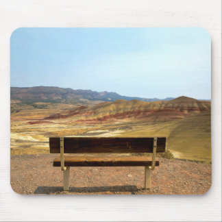 Bench View at Painted Hills Overlook Oregon Mouse Pad