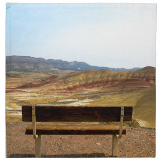 Bench View at Painted Hills Overlook Oregon Napkin