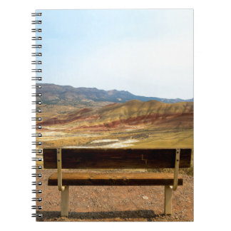 Bench View at Painted Hills Overlook Oregon Notebook