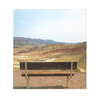 Bench View at Painted Hills Overlook Oregon Notepad