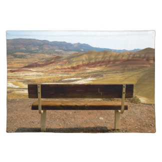 Bench View at Painted Hills Overlook Oregon Placemat