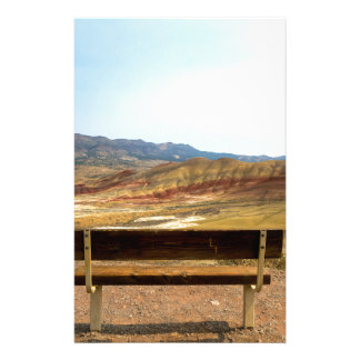 Bench View at Painted Hills Overlook Oregon Stationery