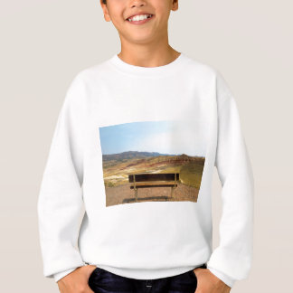 Bench View at Painted Hills Overlook Oregon Sweatshirt