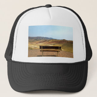 Bench View at Painted Hills Overlook Oregon Trucker Hat