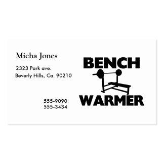 Bench Warmer Business Card