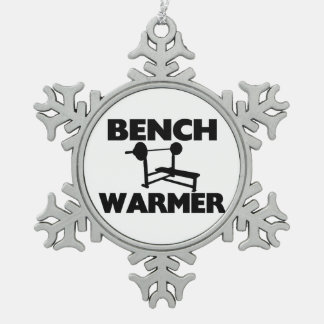 Bench Warmer Pewter Snowflake Ornament