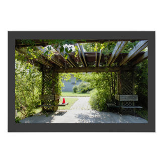 Benches with Nature Poster