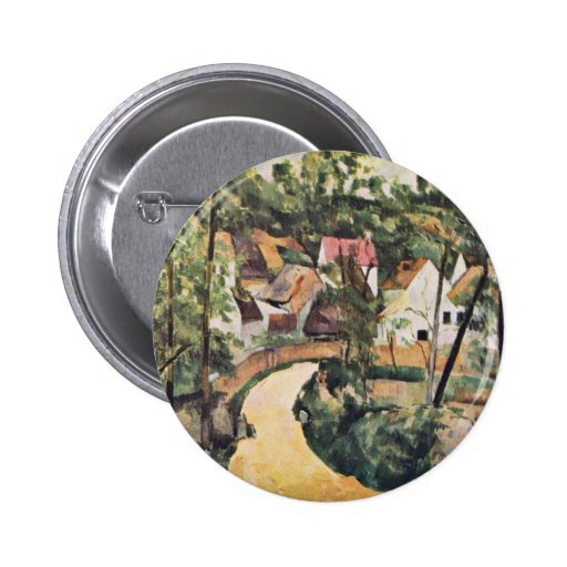 Bend In The Road By Paul Cézanne (Best Quality) Pinback Button