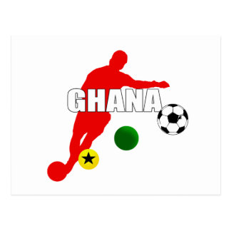 Bend it like a Ghanaian soccer players gifts Postcard