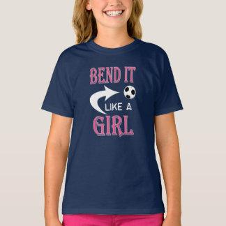 BEND IT Like a GIRL Soccer Ball Girls Soccer T-Shirt
