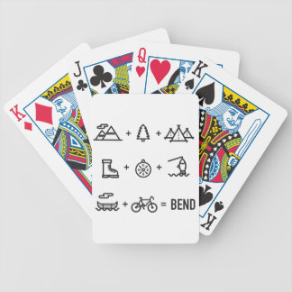 Bend Oregon Activities Equation Logo Bicycle Playing Cards
