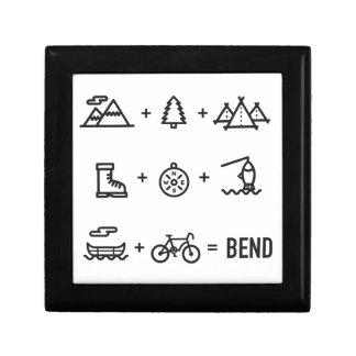 Bend Oregon Activities Equation Logo Gift Box