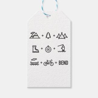 Bend Oregon Activities Equation Logo Gift Tags