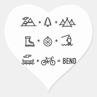 Bend Oregon Activities Equation Logo Heart Sticker