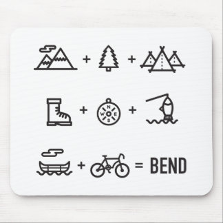 Bend Oregon Activities Equation Logo Mouse Pad