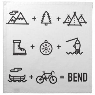 Bend Oregon Activities Equation Logo Napkin