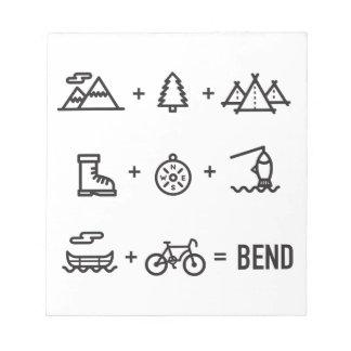 Bend Oregon Activities Equation Logo Notepad