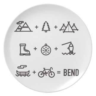 Bend Oregon Activities Equation Logo Plate