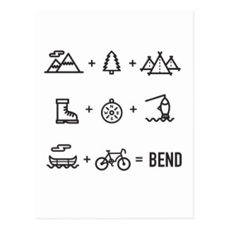 Bend Oregon Activities Equation Logo Postcard