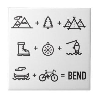 Bend Oregon Activities Equation Logo Tile