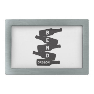 Bend Oregon Beer Bottle Stack Logo Belt Buckle