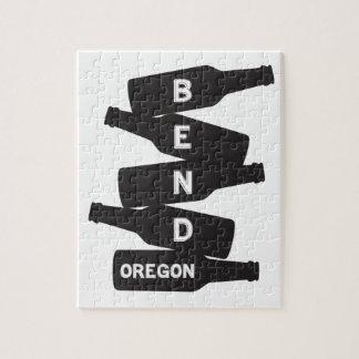 Bend Oregon Beer Bottle Stack Logo Jigsaw Puzzle