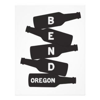 Bend Oregon Beer Bottle Stack Logo Letterhead