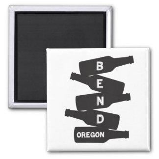 Bend Oregon Beer Bottle Stack Logo Magnet