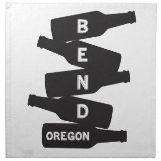 Bend Oregon Beer Bottle Stack Logo Napkin
