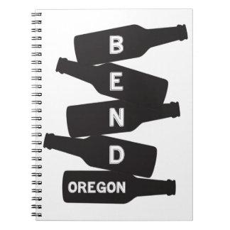Bend Oregon Beer Bottle Stack Logo Notebook