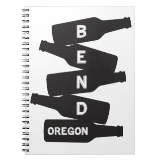 Bend Oregon Beer Bottle Stack Logo Notebooks