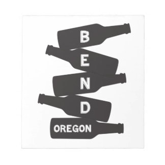 Bend Oregon Beer Bottle Stack Logo Notepad