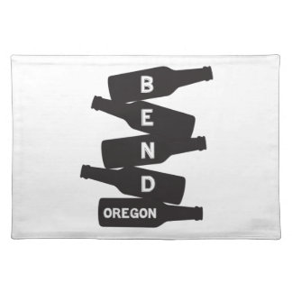 Bend Oregon Beer Bottle Stack Logo Placemat