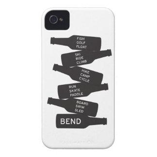 Bend Oregon Beer Bottle Stacked Outdoor Activities iPhone 4 Case-Mate Case