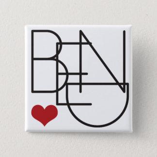 Bend Oregon Heart 2 Inch Square Button