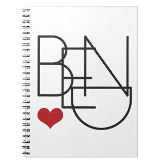 Bend Oregon Heart Notebook