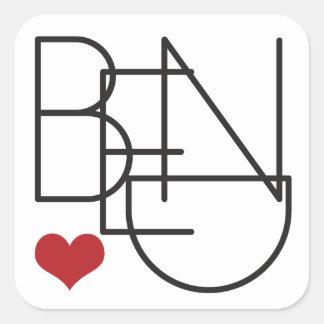 Bend Oregon Heart Square Sticker