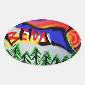 Bend Oregon Logo Oval Sticker