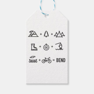 Bend Oregon Outdoor Activities Equation Pack Of Gift Tags