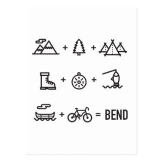 Bend Oregon Outdoor Activities Equation Postcard