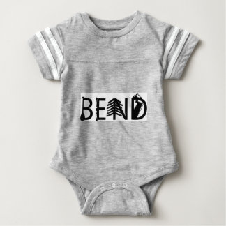 Bend Oregon Outdoor Activity Letters Logo Baby Bodysuit