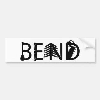Bend Oregon Outdoor Activity Letters Logo Bumper Sticker