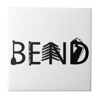 Bend Oregon Outdoor Activity Letters Logo Ceramic Tile